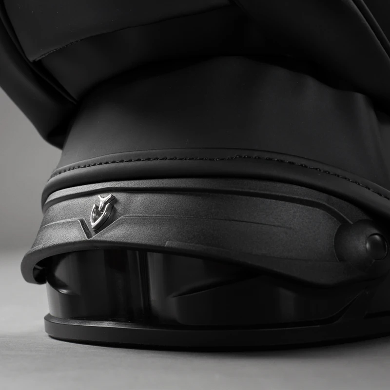 REDESIGNED PATENTED<br>使いやすいパッド入りのハンドルは 本革を採用しました。使いやすいパッド入りのハンドルは 本革を採用しました。ROTATOR BASE <br> ボトム全体で地面に接地して展開時に抜群の安定性を発揮する