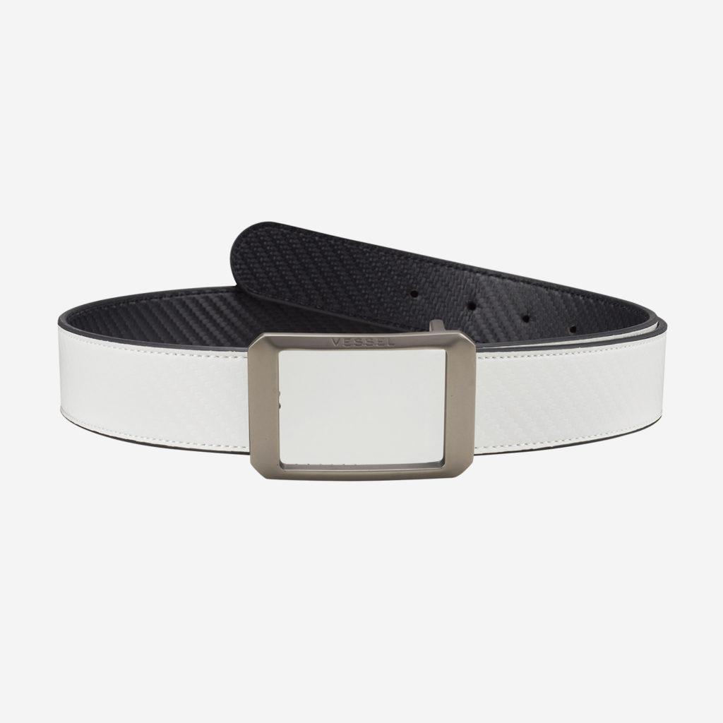 Belts (Square reversible) GUNMETAL(WHITE/BLACK)