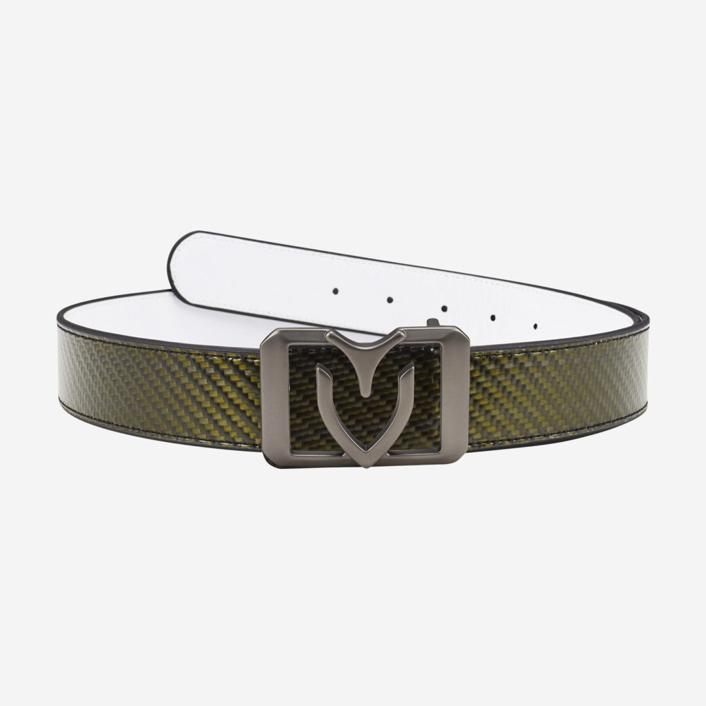 Belts (V square reversible) GUNMETAL (WHITE/CARBON)