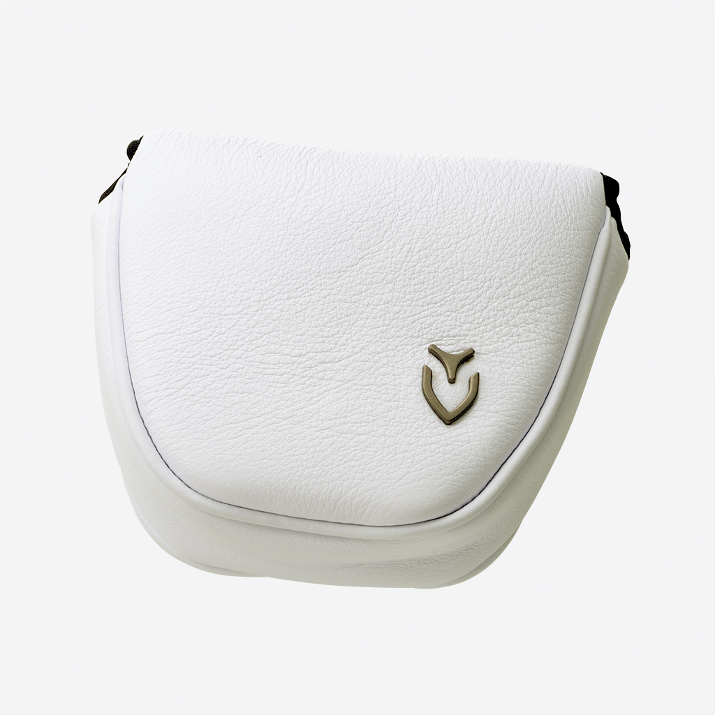 Genuine Leather Putter Cover WHITE(mallet)