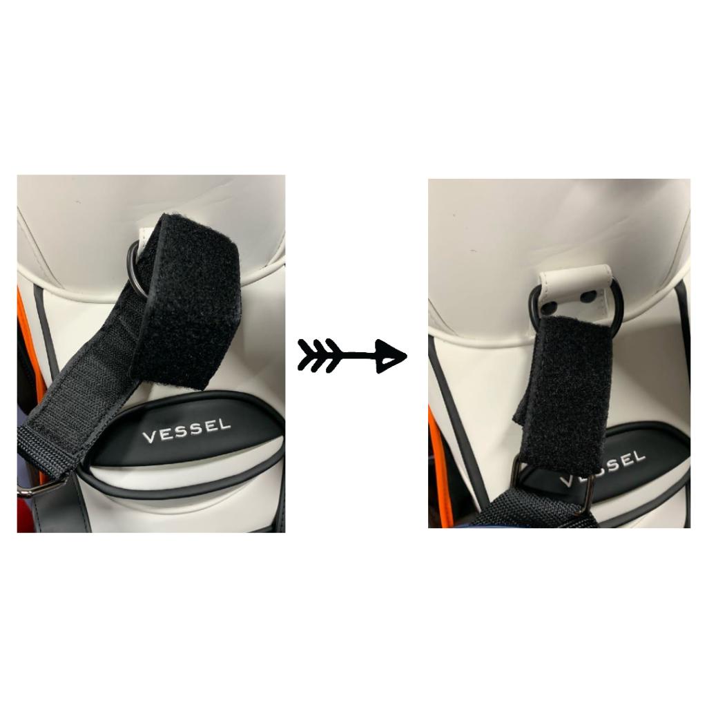 ベルクロのアタッチメントにより、必要に応じて簡単に着脱ができます。